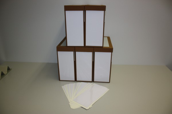 Archivschachtel Folio mit Etikettentasche